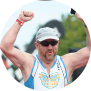 Gary Stuart was able to complete a triathalon after strabismus surgery and cataract surgery gave him better vision then he'd ever had